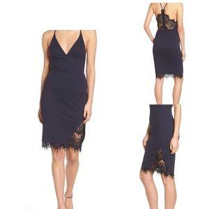 Lace Body-Con Dress ASTR THE LABEL BLACK